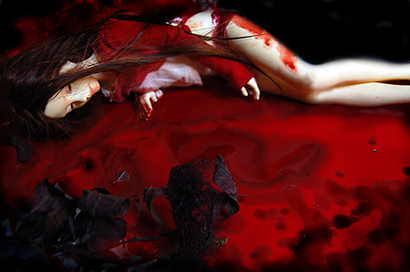 Dark Pop Surrealism Blood