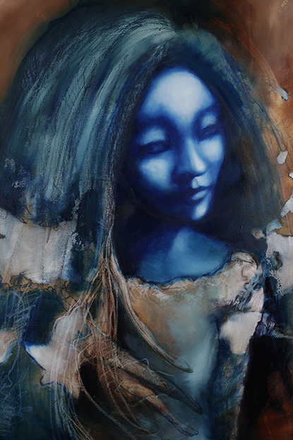 Painting of fairy Doll, from the Ophelia Art Series by Barbara Agreste