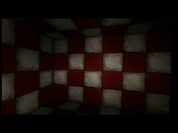 The Checkered Tunnel, 3D software animation by Barbara Agreste