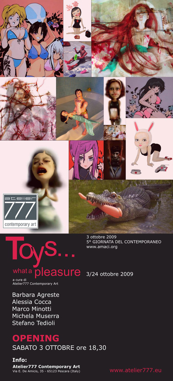 """TOYS ... What a pleasure"" is a cheerful and amusing presentation of visual references..."