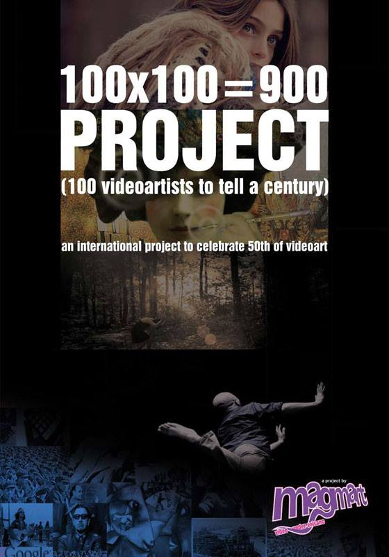 100x100=900 Cataloghu of International Video Art Event, already screened in 25 countries.