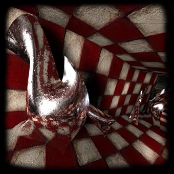 the-checkered-tunnel-video-art-3D-animation