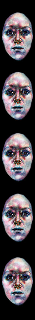 Woman's Face, pastels on acid-free paper, drawing by Barbara Agreste