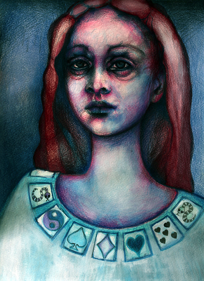 auburn-hair-pastels-drawing-pop-surrealism-series